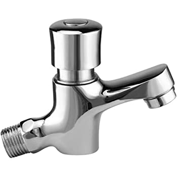 Time Delay Basin Sink Faucet Auto Self Closing Tap Water Saving Wall Mounted