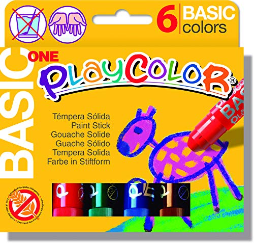 PlayColor - Solid Paint Stick - Brian Clegg - 6 Stick Assorted Pack