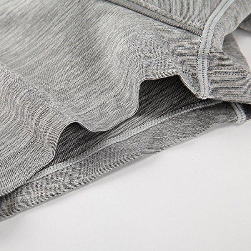ZHXUANXUAN Uomini Colore Solido Modal Angoli Biancheria Intima Inscatolato Pugile Pugili Pack 3 OneColor