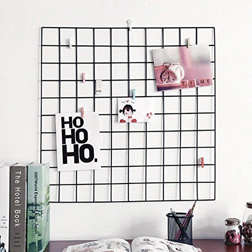 (Seasaleshop Diy Bilderrahmen Wanddekoration Gitter Foto Wand, Multifunktionale Wand Grid-Display, Multifunktion Metall Mesh Wand Dekor/hanging Photo Wall/Wall Art Display & Organizer Memoboard,60 x 6)
