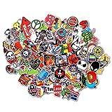 StillCool Aufkleber 100 Stück für Skateboard Snowboard-Weinlese-Vinylaufkleber-Graffiti Laptop Gepäck Auto-Fahrrad-Decals mischen Lot Art- und Weisekühler(100pcs)