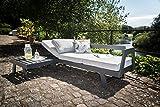 greemotion 128510 Lounge Set Aluminium Panama-Alu Loungeset 3 teilig für Garten & Terrasse-Outdoor Garnitur in Anthrazit & Grau mit 2 Liegen als Eckbank & Hocker, 22,6 x 7,4 x 6,6 cm - 17
