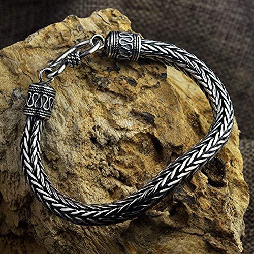 Serired 100% echte Pure 925 Sterling Silber Männer Armbänder Hanf Seil Vintage handgemachte Thai Silber Männer Schmuck schöne Geschenk