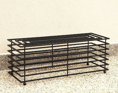 DanDiBo Bank Futura Modern Gartenbank 11670 Sitzbank 110 cm aus Metall Eisen Blumenbank - 2