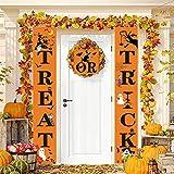 xmansky Halloween-Fahnen-Dekorations Süßes oder Saures Halloween-Fahnen, Halloween-hängendes...