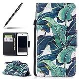 Uposao Housse de téléphone pouriPod Touch 5/6, Etui iPod Touch 5/6 Coque PU Pochette Portefeuille Cuir Coque de Protection Stand Housse Magnetique a Rabat 3D Effet Motif Chat Peint Premium Coque...