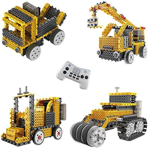 Genialer Bausatz für Roboterfahrzeuge TG667 – Ferngesteuertes motorisiertes Fahrzeug-Set– Spielzeuge für Jungen und Mädchen von ThinkGizmos (markengeschützt).