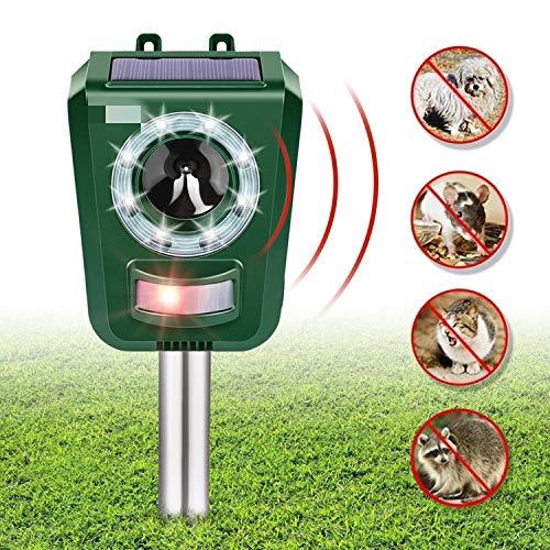 INTEY Katzenschreck Ultraschall Wasserdichte Utraschall Abwehr Solar Hunde Und Katzenschreck Ultraschall LED