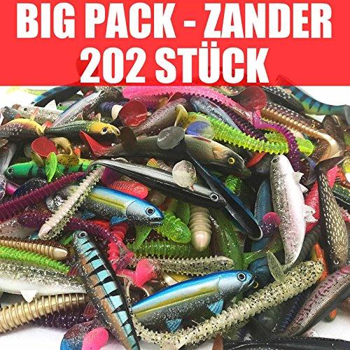 Jackson Gummifisch Kunstköder XXXL Set Profi - Zander Angeln 10-13cm - 202 STÜCK