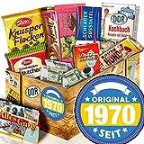 Original seit 1970 / DDR Schokolade Geschenkkorb / Geschenke zum 50. Geburtstag