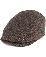 City Sport Donegal Tweed Extended Bill Flat Cap - Brown