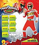 Rubies Official Power Rangers Dino Charge Red Ranger Flat Chest, Child Costume - Medium Ages 5 -6