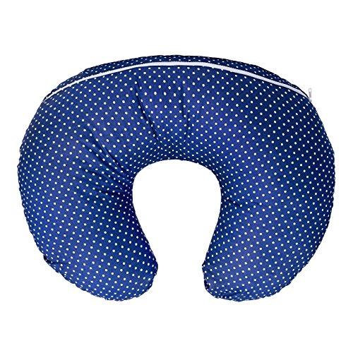 LULANDO Stillkissen, Nackenkissen und Lagerungskissen (55x42cm) für Babys und Erwachsene. Ideal Auch für Kinder und als Reise-Kopfkissen. Farbe: Pünktchen Dunkelblau