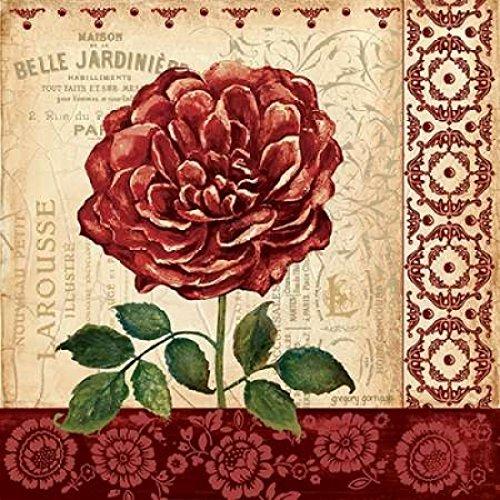 The Poster Corp Gregory Gorham - Vintage Rose Kunstdruck (60,96 x 60,96 cm) - Gorham Rose