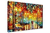 CANVAS IT UP Neue Rains Rauschen von Leonid Afremov auf Bild auf Rahmen Wand Art Prints City Scenery, canvas, 04-30