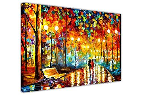Neue Rains Rauschen von Leonid Afremov auf Bild auf Rahmen Wand Art Prints City Scenery, canvas, 06- A0 - 40