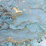 LONGYUCHEN Retro Luxus Blau Bronzing Textur Foto Große 3D Wand Wohnzimmer Schlafzimmer Sofa Tv Wand Dekoration Silk Wall Paper Wandbild,60Cm(H)×120Cm(W)