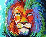 Peinture Bricolage par Numéros Kit De Débutant sans Cadre pour Adultes 16 X 20 Pouces Kids Linen Canvas - Peinture,Lion