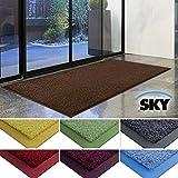 Zerbino casa pura® linea Sky | Marrone | Antiscivolo | Colori brillanti | Impermeabile | Interno/Esterno | 50x85 cm