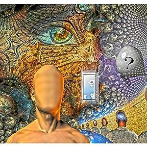 AZ Human Dream Like Scene In Organinc Windows Canvas Painting 1inch Wood Stretching 25.3 x 24inch