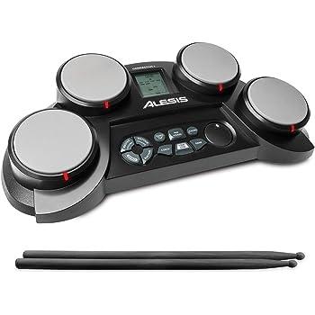 Alesis Compact Kit 4, Batteria Elettronica Portatile con 4 Pad, Altoparlanti Integrati e Bacchette Incluse