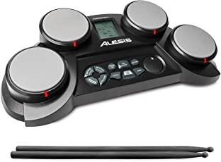 Alesis CompactKit 4-Pad Portable Tabletop Drum Kit (Multicolor)