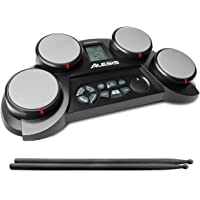 Alesis CompactKit 4 – Kit de Batterie Électronique 4 Pads Sensibles au Toucher, 70 Sons de Percussions, Modes d'Apprentissage et de Jeu, Alimentation sur Pile ou Secteur et Baguettes Incluses