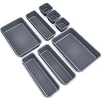 OMEW Organisateurs de tiroir de Bureau 8 pièces, diviseurs de tiroirs imbriqués 3 Tailles Boîtes de Rangement…