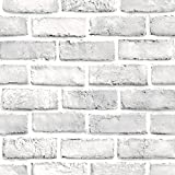 Huhu833 3D PVC Backstein Wallpaper DIY Selbstklebend Wandaufkleber Panels Room Decal Stone Brick Decoration Embossed Wandtattoo (45 * 45cm)
