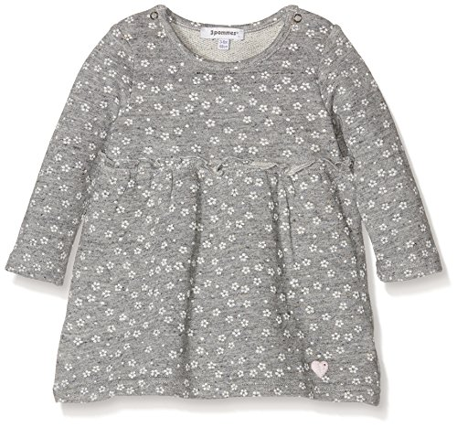 3 pommes Baby-Mädchen Kleid Sweet Lovely, Grau-Grey (Mouse Grey), 12-18 Monate (Sweet 13 Kleider)