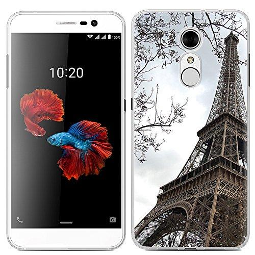 Easbuy Handy Hülle Soft Silikon Case Etui Tasche für ZTE Blade A910 Smartphone Cover Handytasche Handyhülle Schutzhülle