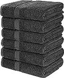 Utopia Towels - 6 Toallas de Gimnasio, Toallas de Piscina - 500 gsm - Toalla de Secado rápido multipropósito...