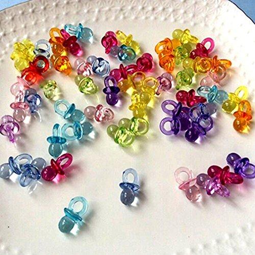 Bodhi2000Mini-Schnuller, für Babyparty, 50 Stück , acryl, mehrfarbig, Einheitsgröße (Blau Acryl Schnuller)