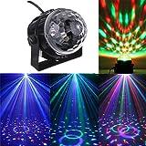 Excerando Mini-Disco DJ Bühnenbeleuchtung LED RGB Kristall Magie rotierende Kugel Ton-Aktivierung Starry für Disco, Xmas Party, Hochzeit, KTV, Bar, Bühne, Club, Partei usw.