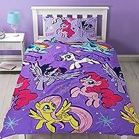 MY LITTLE PONY MOVIE Set de funda de edredón con diseño repetido de la película My Little Pony «Adventure», multicolor, para cama individual.