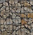 Steinkorb-Gabione eckig, Maschenweite 5 x 10 cm, Tiefe 40 cm, Spiralverschluss, galvanisch verzinkt von Gabiona - Du und dein Garten