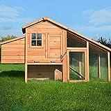 Animalmarketonline Conigliera pollaio gabbia in legno 205 cm x 75 x 118 cm