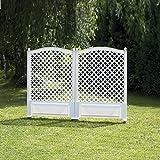 Rank- und Sichtschutz-Spalier 2er Set 140 cm hoch. 2x100 cm breit. weiß