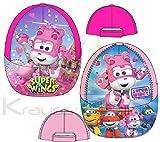 Super Wings Mädchen Cap Kappe Schirmmütze (54, Pink)