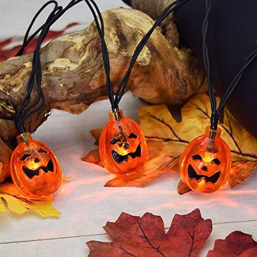 K-bright festa della zucca lanterne 20 ha condotto la lampada stroboscopica fantasma di halloween illumina puntelli decorativi luci d'atmosfera all'aperto stringa