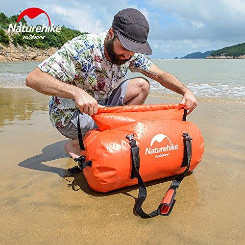 Naturehike Outdoor Camping Borsa impermeabile con cinghia di spalla Borsa a tracolla bagnata a secco (Red, 120L) Black, 40L