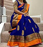 #5: KBF(Sarees For Women Party Wear Half Sarees Offer Designer Art Silk New Collection 2018 In Latest With Designer Blouse Beautiful For Women Party Wear Sadi Offer Sarees Collection and Bhagalpuri Free Size Georgette Sari Marriage Wear Replica Sarees Wedding Casual Design With Blouse Material)