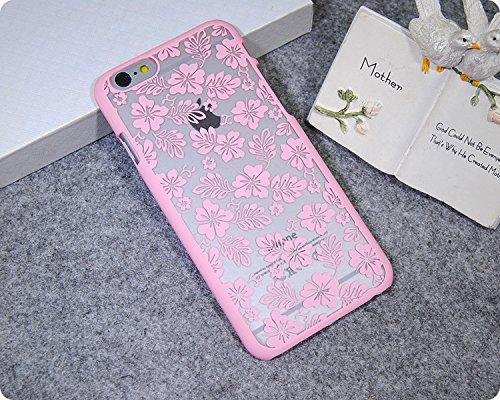 Coque iPhone 6 Plus/6s Plus , iNenk® Retro Palais fleur mat dur PC Shell Scrub manchon protection en mode créatif marée affaire foliaire pour les femmes-violet Rose