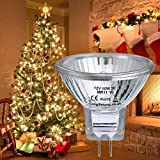 2 x MR11 10w 12v Fibre Optic Christmas Tree Halogen Bulb 35mm Low Voltage