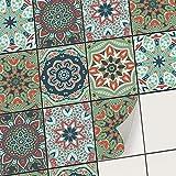Carrelage adhesif Cuisine et Salle de Bain - Mosaique Sticker carrelage Mural I Adhésive décorative Carreaux de Ciment I Stickers carrelage Peinture (15x20 cm I 30 - Pièces)