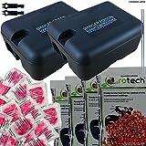 2 x Rat Box Trap - 4 x 100G Poison Packets & 20 Pasta Bait Blocks - Ready Baited