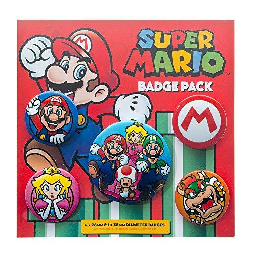 Preisvergleich Produktbild Nintendo Super Mario Badge Pack