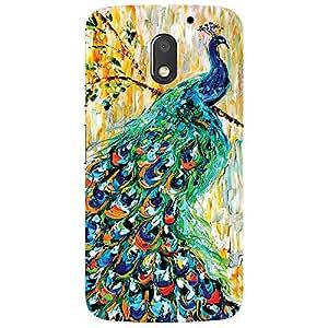 Peacock - Mobile Back Case Cover For Motorola Moto E3 (3Rd Gen) 2016