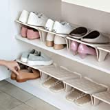 Shoe Stacker Slotz Space Saver, Shoe Racks for Closet Organization No Assembly Require, Durable Plastic Shoes Holder for Home