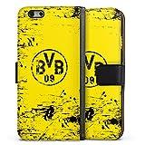 DeinDesign Apple iPhone 6 Tasche Leder Flip Case Hülle Borussia Dortmund BVB Fanartikel